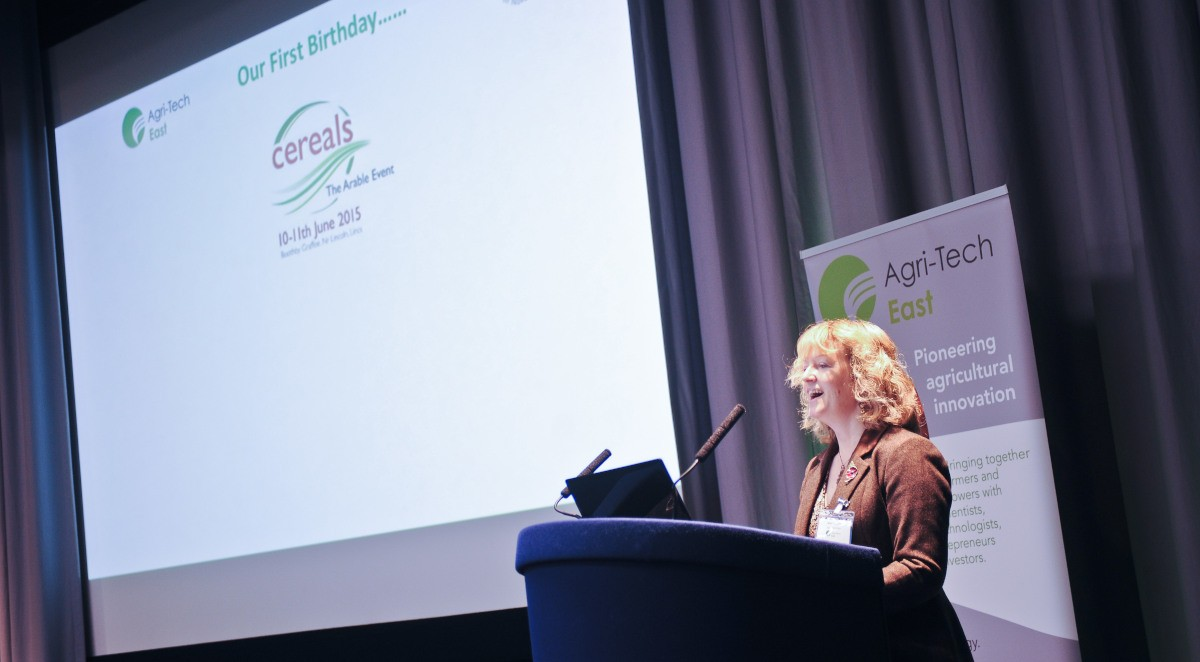 Agri-Tech East Director Belinda Clarke at REAP 2015