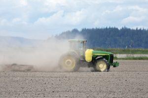 Soil erosion from ploughing