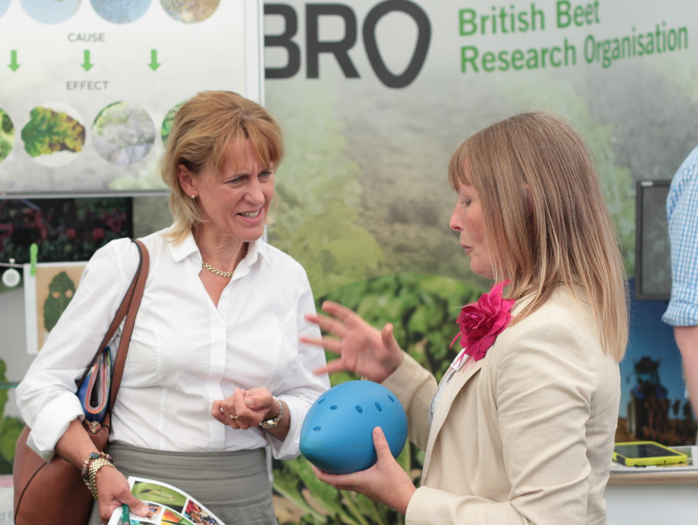 Minette Batters with BBRO's Vicky Foster
