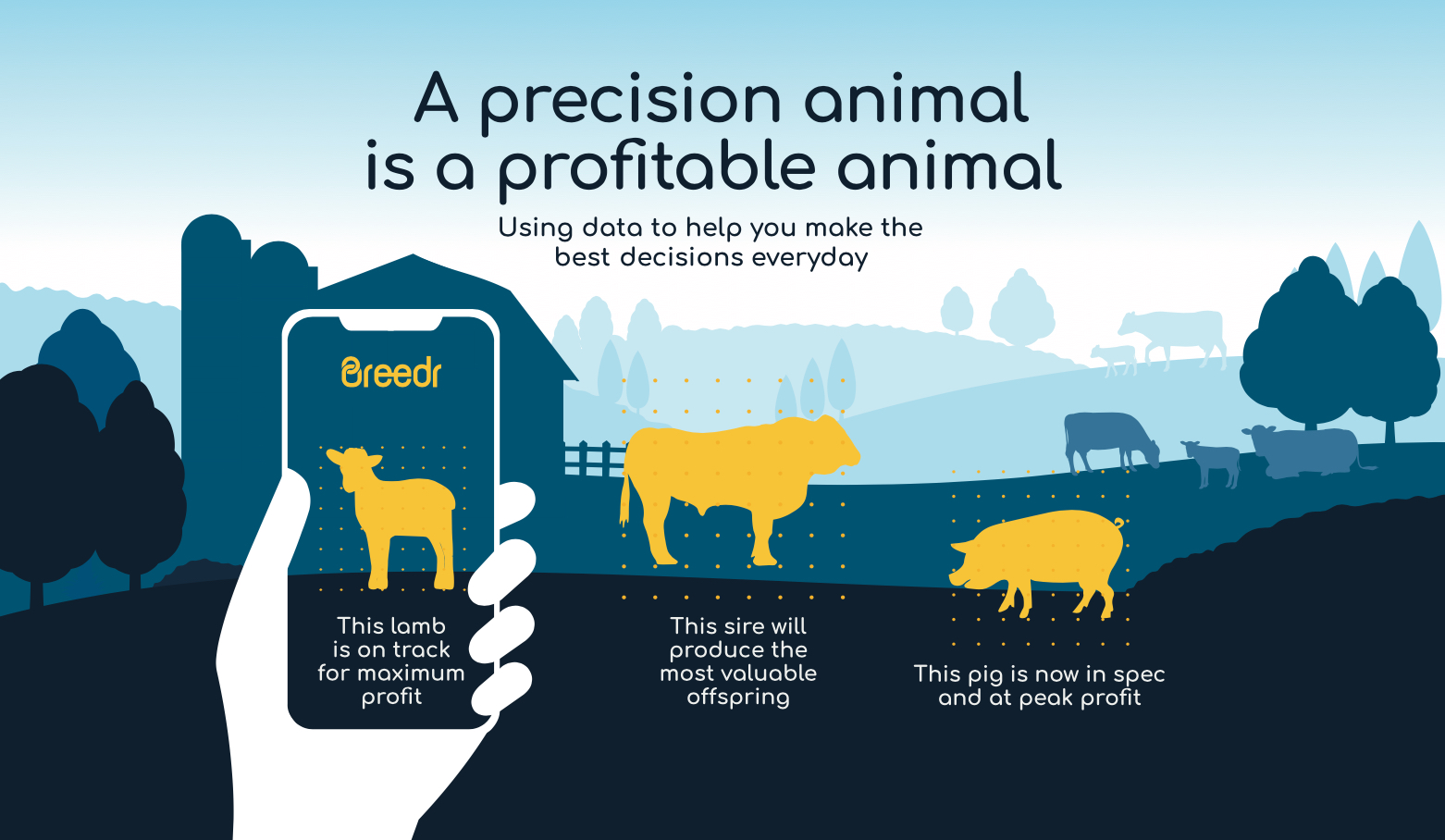 Breedr precision animal graphic