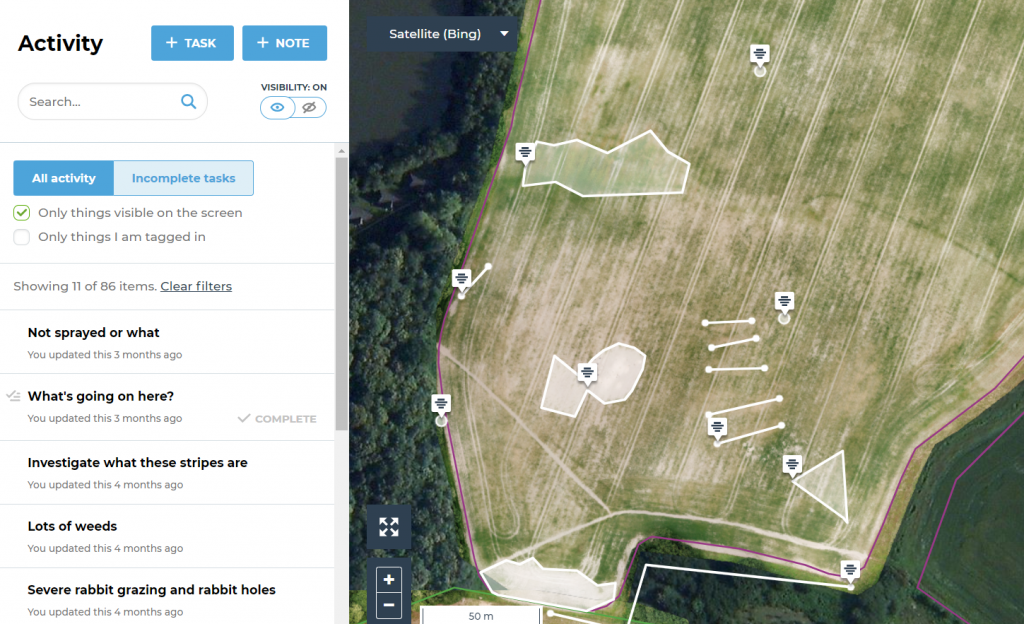 DroneDeploy integrates with fieldmargin