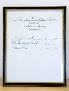 Original Bland insurance certificate