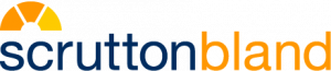 Scrutton bland logo orange and navy