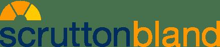 Scrutton bland logo orange and navy
