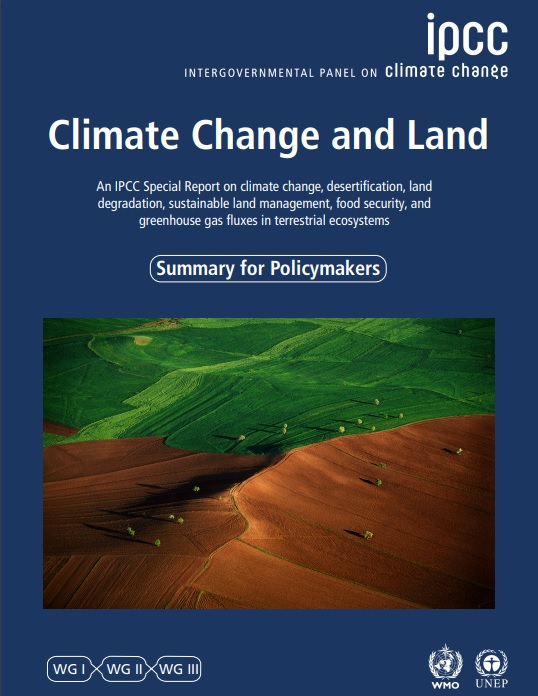 IPCC Special Report on Climate Change and Land summary cover