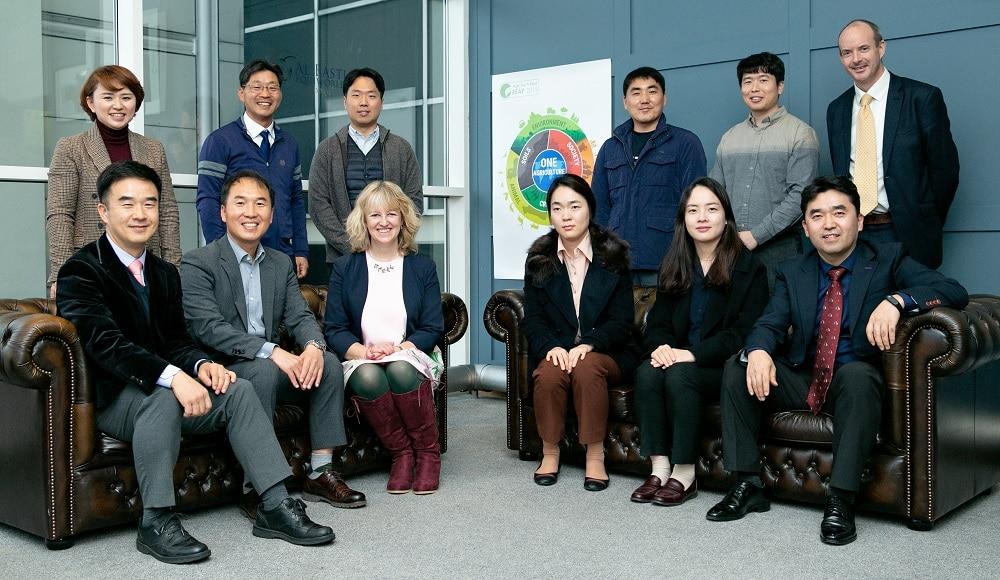 Belinda and Alex Dinsdale with Korean delegates at REAP