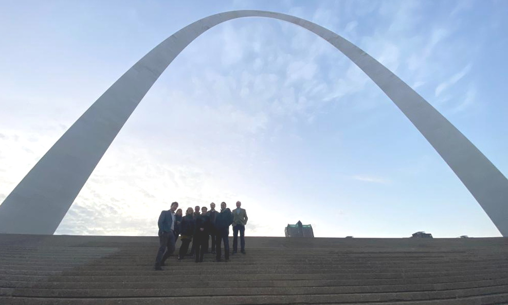 Group under the arch
