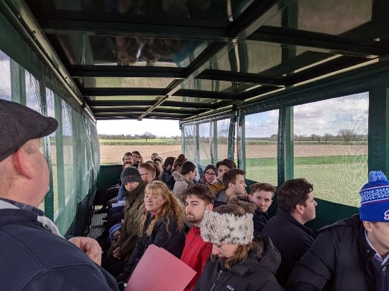 David Jones, Morley Farm Manager and John Wallace, Morley Agricultural Foundation Chairman, showed the attendees around the farm.