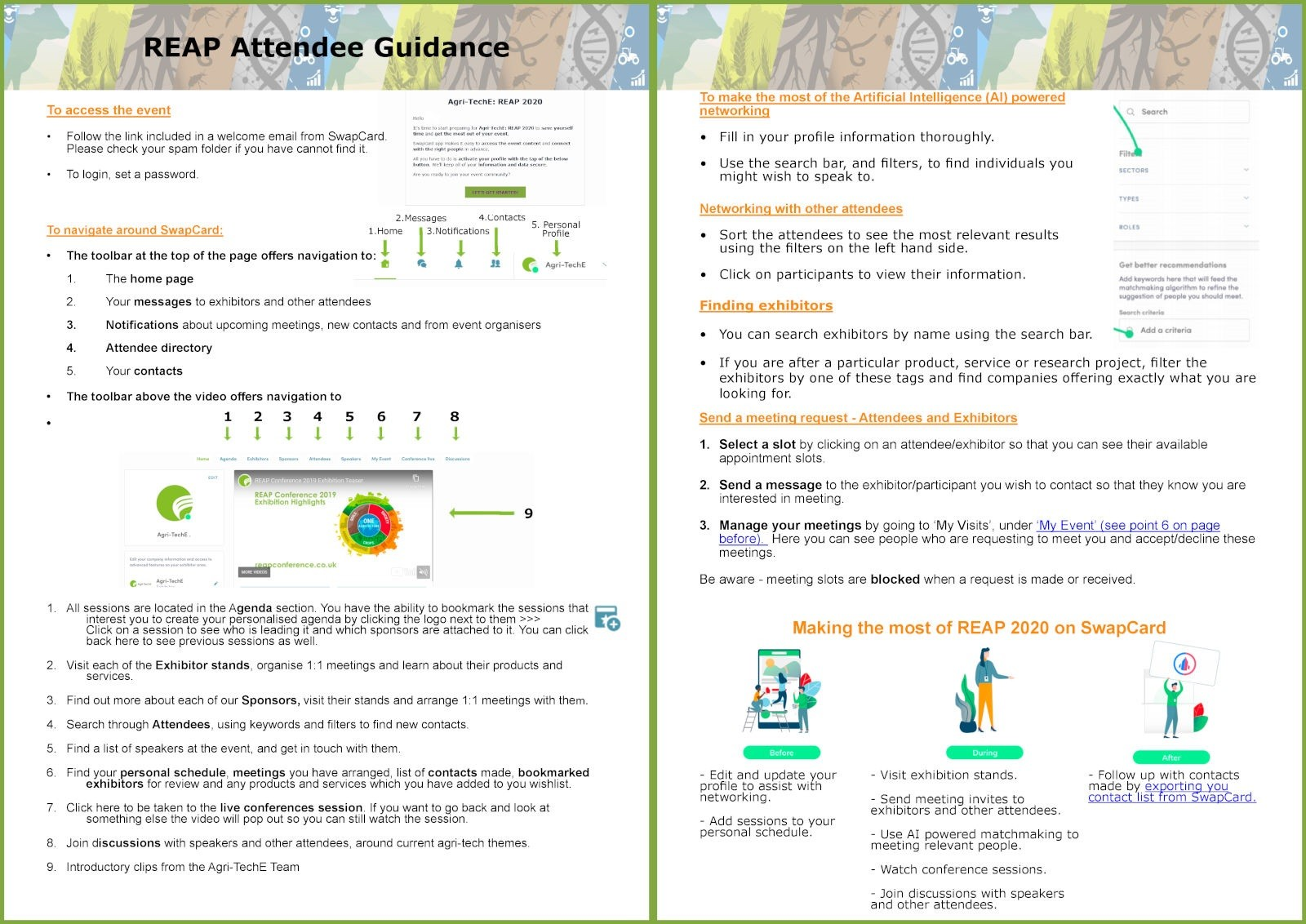 Attendee Guidance for Navigating Swapcard full
