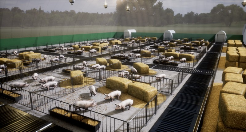 net zero livestock production Willand Group - artist render 2
