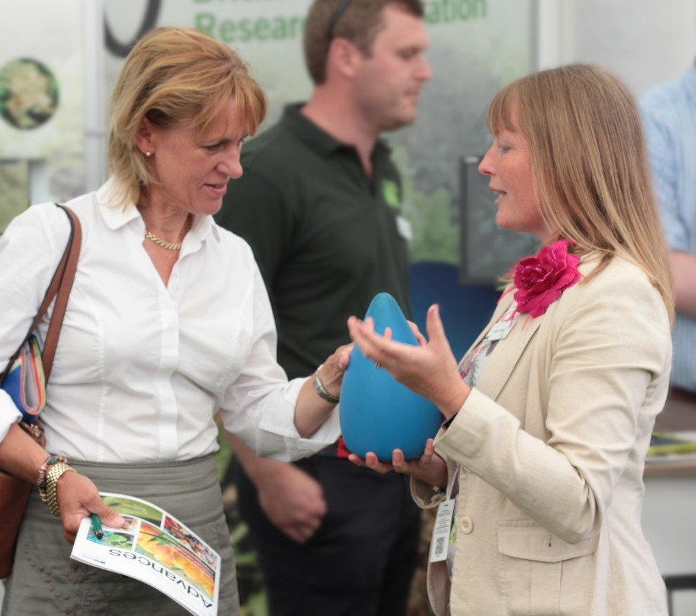 Minette Batters (NFU President) and Vicky Foster (BBRO)