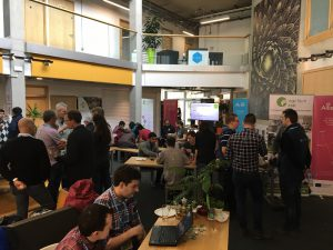 The teams at the sudo grow hackathon get started