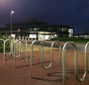 Agrimetrics centre at night