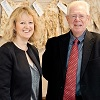 Belinda Clarke with Ian Crute at REAP - Agri-Tech East and AHDB feat