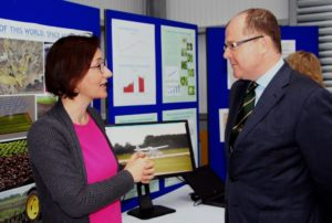 Emma Garfield with George Freeman at the AgriGate launch