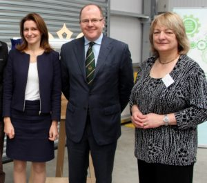 Lucy Frazer,MP for South East Cambridgeshire; George Freeman MP; and Tina Barsby, CEO of NIAB